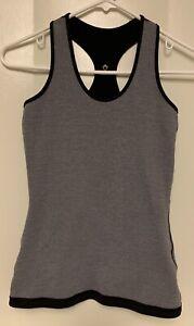 Ivivva by LuluLemon Girls size 12 Reversible Gray Black Racerback Tank Top