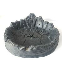 Vintage Coco Joes Hawaii Ashtray Black Lava Hawaiian Volcanos Tiki Large 7.25 in