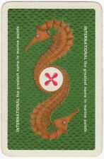 Playing Cards 1 Swap Card - Old Vintage INTERNATIONAL Marine Paints SEAHORSE 3