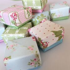 10 Floral Origami  Mini Favour Boxes Gift Paper Wedding