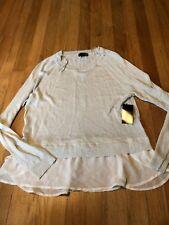 ANA Women's Silver Layered Glitter Sweater Size Medium New