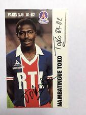 Autogramm NAMBATINGUE TOKO-Paris St.Germain 81/82-PSG-NS Tschad-autograph