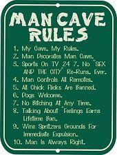 "Retro Vintage Nostalgic Funny Hunting Guns MAN CAVE Rules Metal Sign 9""x12"""