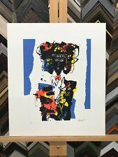 "Raimundo García Parra ""Rosa"" Figure Limited Edition Signed Serigraph Art"