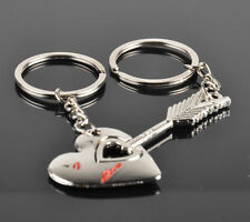 1Pair NEW Silver Arrow Heart For Love Couple Lover Keychain Keyring Lover Gift