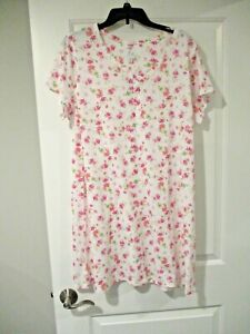 Aria womens short sleeve nightgown plus size 1X floral