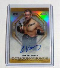 2019 Topps UFC Chrome REFRACTOR Cain Velasquez CASE HIT Autograph #4/5