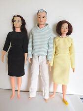 Vintage 1960's Remco (3) Littlechap Family, Lisa, Judy, Dr. John All Original