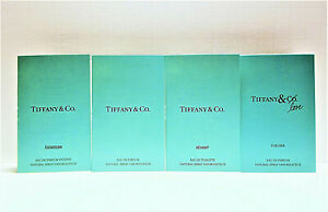 Tiffany & Co EDP, Sheer, Intense, Tiffany & Love for Her Sample Vials Set of 4