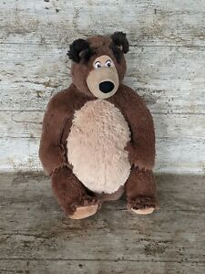 Masha and the Bear Teddy - Large Cuddly Brown Bear Plush Soft Toy - 40cm Approx