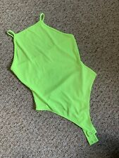 Neon green Ribbed bodysuit Forever 21 Large