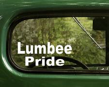 2 LUMBEE PRIDE DECALs Native American Sticker for Car Laptop Truck Bumper Window