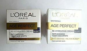 L'Oreal Paris Age Perfect Re-Hydrating Night Cream Anti-sagging & Age Spots X2