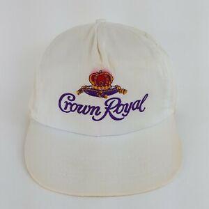 VTG 90s Crown Royal Liquor Trucker Hat Logo Alcohol Snapback Distressed Cap