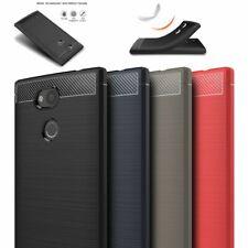TPU-Case Handy-Hülle #T55 Carbon-Look zu SONY XPERIA L2 Schutz-Hülle Cover