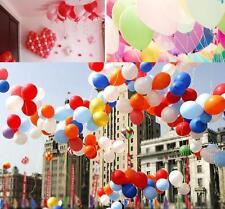 """100X Mixte Ballons Latex 10"""" Rond Pr Fête Mariage Parti Anniversaire Soirée Déco"""