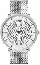 BRAND NEW SKAGEN SKW6278 SOLAR HALD SILVER STAINLESS STEEL DOT DIAL MEN'S WATCH