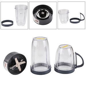 4PC Blender Smoothie Milkshake Maker Processor Juicer Mixer Grinder Accessory