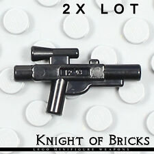 LEGO Minifigure WHITE Blaster Weapon Pistol with Energy Studs on Sides