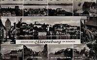 MEERSBURG Bodensee AK 50/60er Mehrbild-AK 11 Ansichten ua. Hafen Straßen uvm.