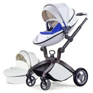 Hot Mom Baby Bassinet Stroller. With Purple Bassinet Cover