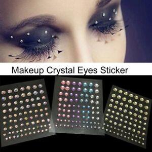3DFace Gems Stick on 3D Jewels Festival Body Glitter Crystals Rhinestones Eye UK
