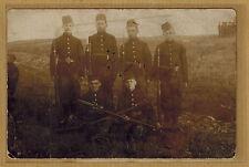 Carte Photo RPPC militaire carabiniers belges fusils Mauser 1889 baïonnette m086