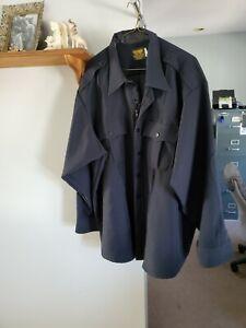 Dark Navy Police Shirt size 19 1/2x34