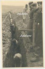 Foto Belgien Luftwaffe-Flak-Bunker-Stellung-Bau bei Fort d'Embourg 1940 (c234)
