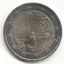 Alemania 2 Euro 2ª 2020 ( 50 Ani. Genuflexion )  Emision Nº 24 Una pieza