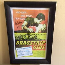 Very Rare NHRA Driver Ashley Force Signed Autograph Dragstrip Girl Movie Poster