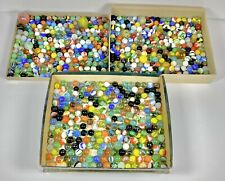 Vintage Estate Marbles Lot of 670 Shooters Mixed Sizes All Shown