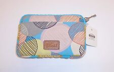 NEW  FOSSIL BB BIRDIE ZIP RETRO POLYESTER COIN PURSE,POUCH,WALLET