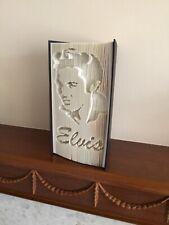 Handmade Folded Book Art, Elvis Presley