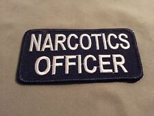 narcotics officer embroidered patch