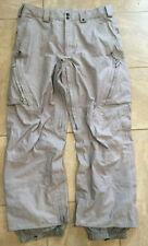 Burton [AK] Gore-Tex Softshell Men's Ski Snowboard Pants Grey Size Large L Gray