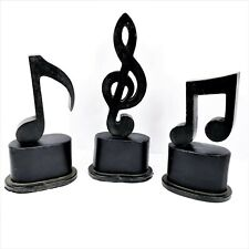 Uttermost Music Notes Aged Black Hand Forged Metal Figurines Set of 3 Home Decor
