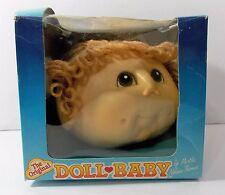 Original Doll Baby Craft Doll Head Light Brown Ponytail Brown Eyes Fibre Craft