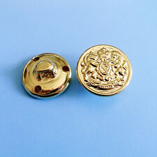 10 Brass Metal Lion Military Patriotic Shirt Sew On Buttons 15mm 24L Gold  G221
