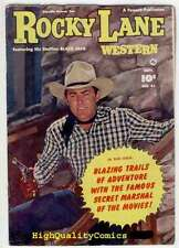 ROCKY LANE #41, VG+ to FN, Western Crime, 1952, Guns, Posse, Photo cover