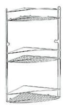 Scaffale da bagno doccia angoliera angolare mensola a tre piani ripiani acciaio