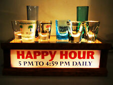 REMOTE CONTROL LED LIGHTED HAPPY HOUR shot glass display LIGHTS UP TOP&FRONT