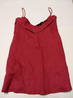 HARVE BERNARD WOMENS LINEN CAMI TUNIC SIZE LARGE IN WATERMELON NWT