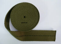 "45mm 1 3/4"" Cotton PARACHUTE HARNESS Webbing ROLL, OD"