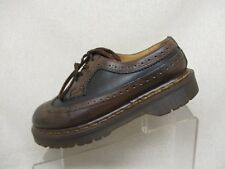 Dr Martens Black Brown Leather Brogue Oxford Dress Shoes Boots Size 5 UK England