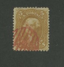 1861 United States Postage Stamp #67a Used F/VF Postal Canceled