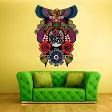 Color Wall Decals Sticker Mask Face Ethnic Religion Indian Antique (Col16)