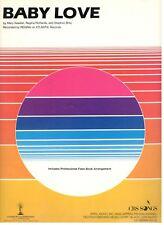 "REGINA ""BABY LOVE"" SHEET MUSIC-PIANO/VOCAL/GUITAR/CHORDS-1986-EXTREMELY RARE!!"