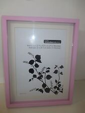 Modern Living Pink Wooden Shadow Box Photo Frame 11 x 14inches with Mat Board
