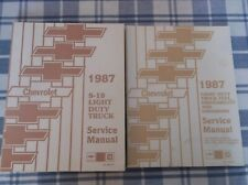 1987 Chevrolet S-10 Light Duty Truck Service Manual & Fuel Driveability Emission